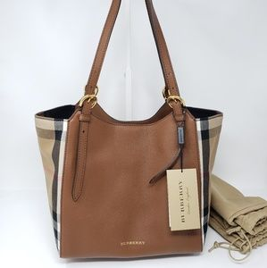 Brand New Burberry Canter House Check Shoulder Bag